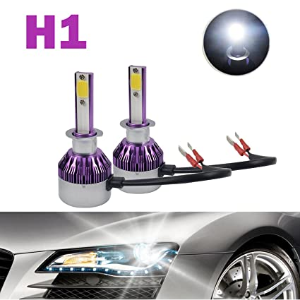 Amazon.com: H1 LED Headlight Bulbs 12000LM 120W Cool White 6000K COB on bulb fuse, bulb wiring pattern, bulb socket diagram, bulb parts diagram,