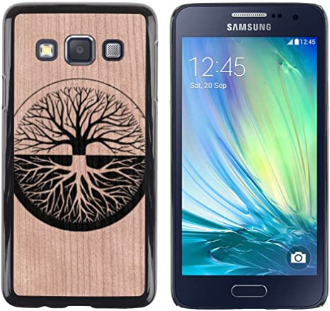 Funda Cubierta Madera de cereza Duro PC Teléfono Estuche / Hard Case for Samsung Galaxy A3 / Phone Case TECELL Store / Significado Zen profunda dualidad árbol de la vida Zen Deep