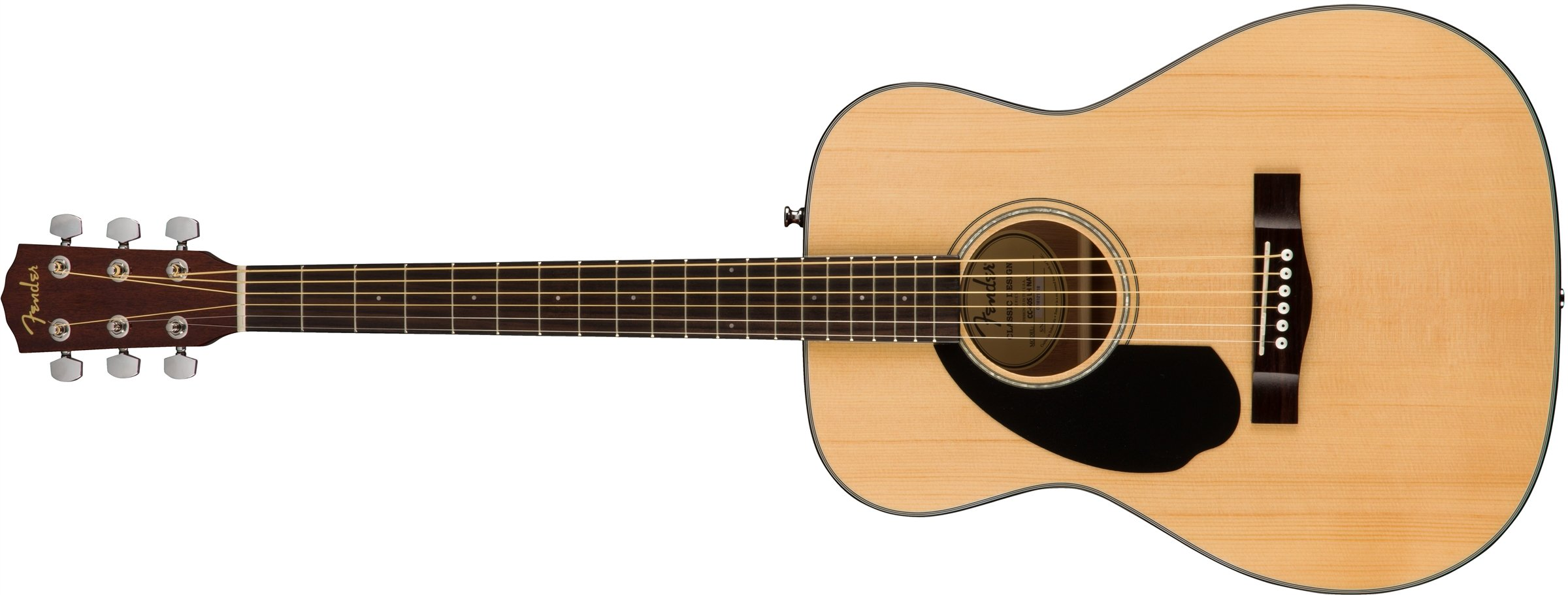 Fender CC-60s Left Handed Acoustic Guitar - Concert Body Style - Natural Finish