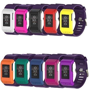 Carcasa de silicona para reloj inteligente Garmin Vivoactive HR, Peibo H300, de alta calidad, fino, 0.01 pounds, color negro: Amazon.es: Deportes y aire ...