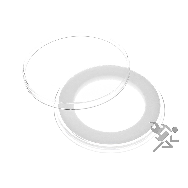 15 Air-tite 33mm Black Ring Coin Holder Capsules for 1oz Australian Platinum