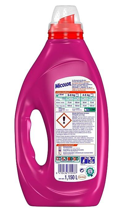 Micolor Detergente Líquido Frescor Duradero - 23 Lavados (1,15 L)