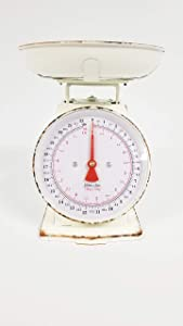 Everydecor White Vintage Kitchen Scale Decor