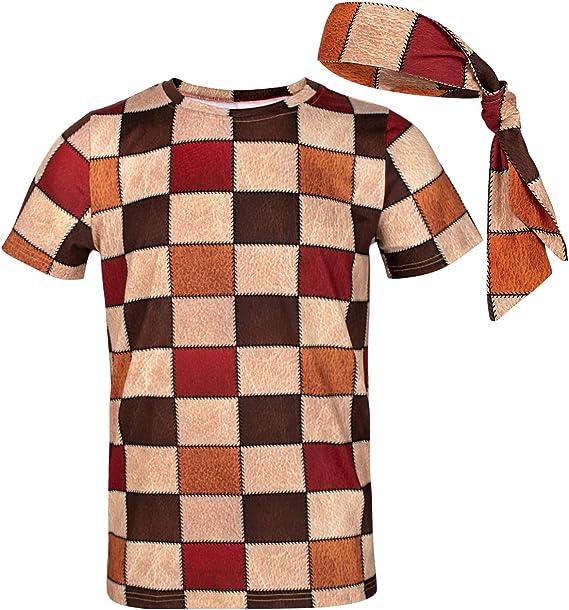 COSAVOROCK Disfraz de Hippie años 60s 70s Hombre Camiseta con ...