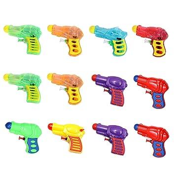 SHI WU 12 Piezas de plástico Pistola de Agua Pistola Pistola para niños Juego de riego, Colores Surtidos Pistolas de Juguete pequeñas Rellenos y ...