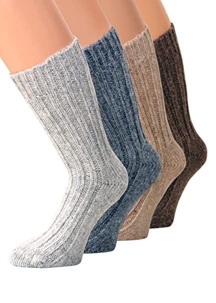 4 pares de calcetines alpaca Invierno Calcetines cálido suave Soft con lana de alpaca: Amazon.es: Ropa y accesorios