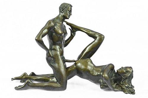 Handmade European Bronze Sculpture Two Pcs Vienna Erotic Figurine Art Nouveau Sexual Sex Figure Bronze Statue -ST-025-Decor Collectible Gift