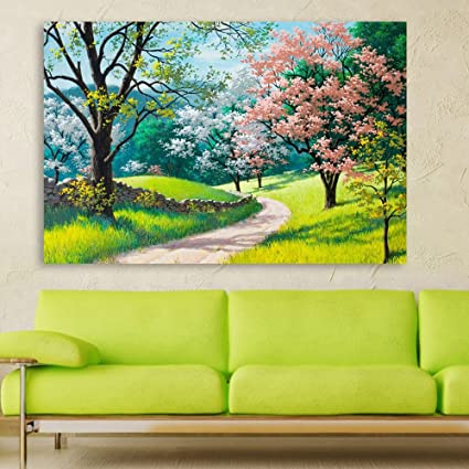 Inephos Unframed Canvas Painting Beautiful Nature Modern Art Wall Painting For Living Room Bedroom Office Hotels Drawing Room 91cm X 61cm