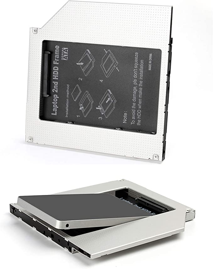 Universal 2nd SSD ODD Adaptador Bahía de Disco Duro 2,5