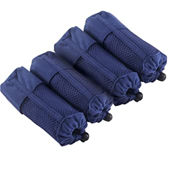 Deconovo Juegos de Toallas de Microfibra 4 Piezas Toalla de Baño y Deporte Suave Absorbente 100 x 50 cm Azul: Amazon.es: Hogar