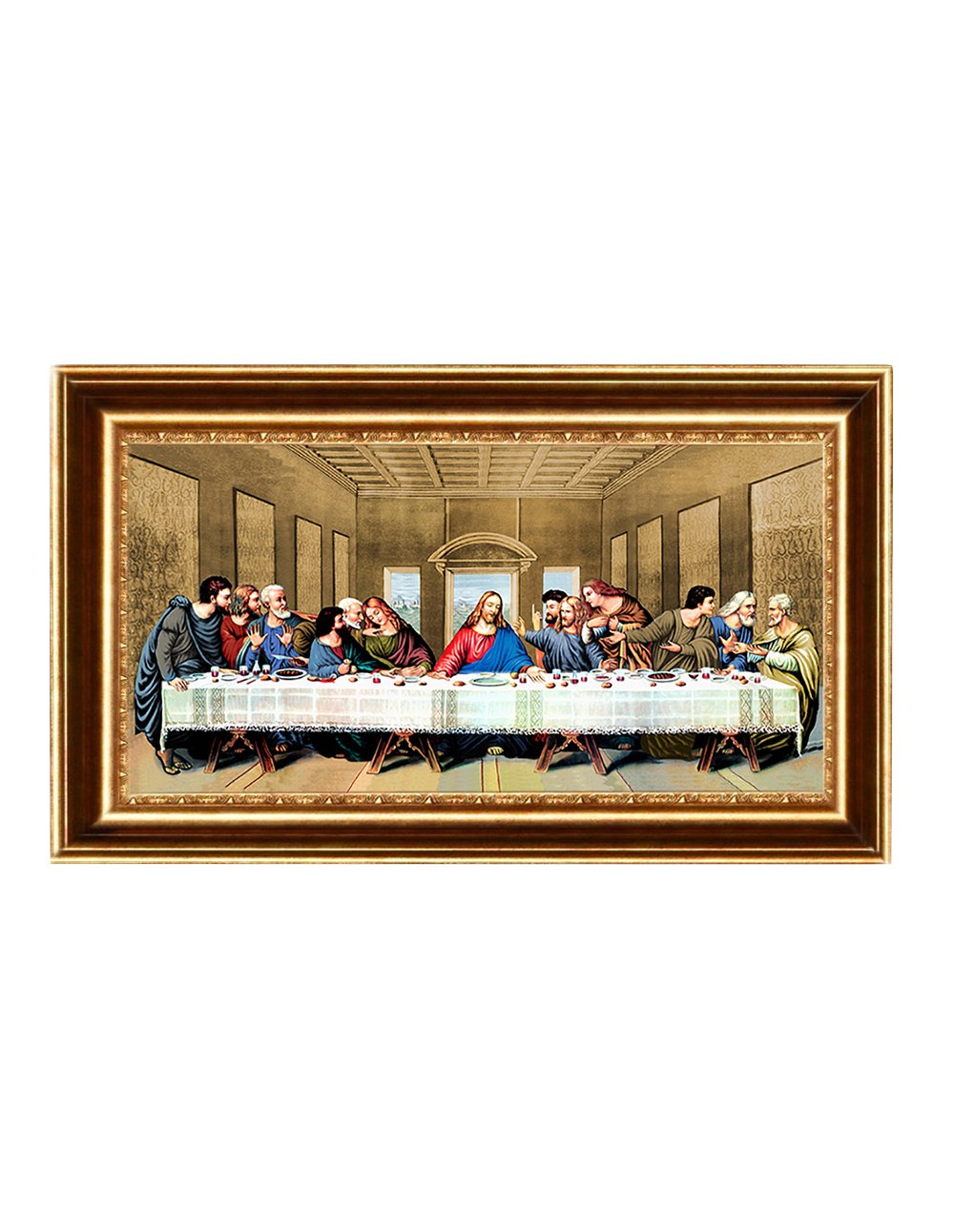 Eliteart- Jesus Christ The Last Supper by Leonardo da Vinci Giclee Art Canvas Prints Framed Size:35 5/8''x22'' by Elite Art