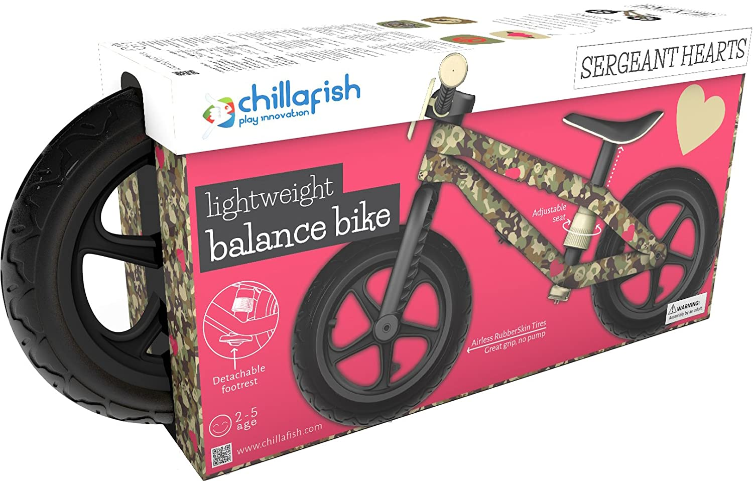 Amazon.com: Chillafish BMXie-RS: BMX Balance Bike with Airless ...