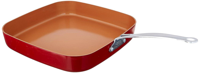 BulbHead Utensilios de Cocina de Cobre Rojo de 10 y 12 Pulgadas sartén Cuadrado Conjunto de 2: Amazon.es: Hogar