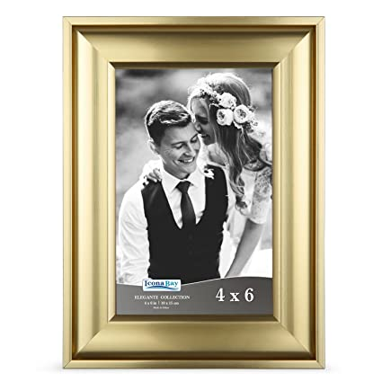 Amazon Icona Bay 4x6 Picture Frame 4 X 6 1 Pack Gold Photo