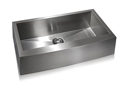 Lenova SS AP S36 Apron Stainless Steel Single Bowl Under Mount Kitchen Sink