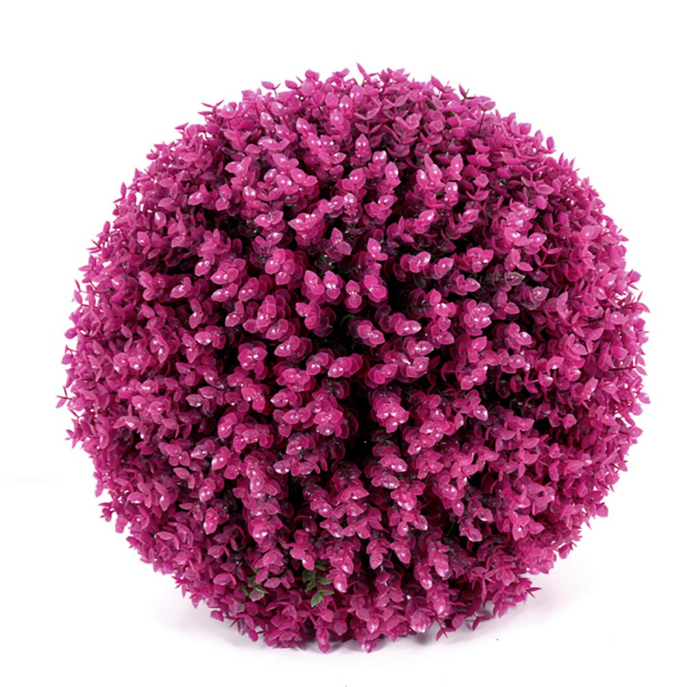 Yunhigh Artificial Plant Ball Decorative Boxwood Simulation Grass Ball Plastic Greenery Globe Lavender Purple Eucalyptus for Wedding Shopping Mall Christmas Home Decor(2pcs, 29cm) by Yunhigh