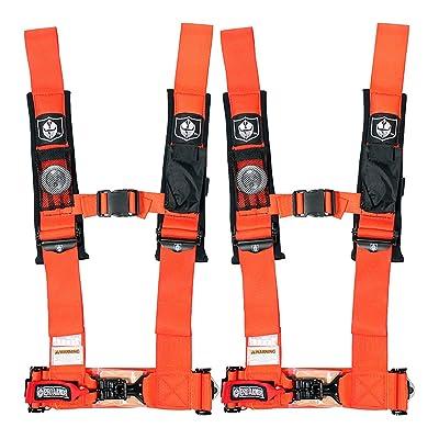 "Pro Armor A114230OR Orange 4 Point Harness 3\"" Straps, 2 Pack: Automotive [5Bkhe0416790]"