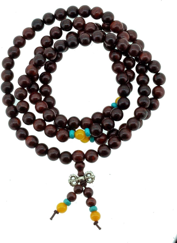 Buddha Necklace,Stone Black Buddha,Wood Necklace,Spirituality,108 Mala Prayer,Good Luck,Men,Woman,Yoga Necklace,Protection,Meditation,Gift