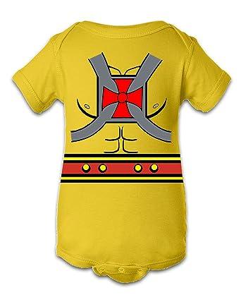 Tee Tee Monster Baby BoysHe-Man Inspired Onesie Newborn Yellow