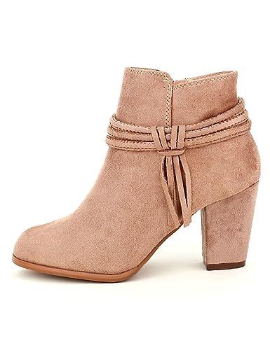 80b49b4c365b80 Cendriyon, Bottine Rose poudré Girlhood Chaussures Femme Taille 41 ...