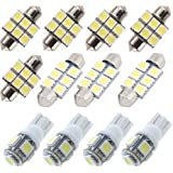 For Kia Sportage Led Interior Lights Sorento Led Interior Car Lights Bulbs Kit White 12pcs 2011
