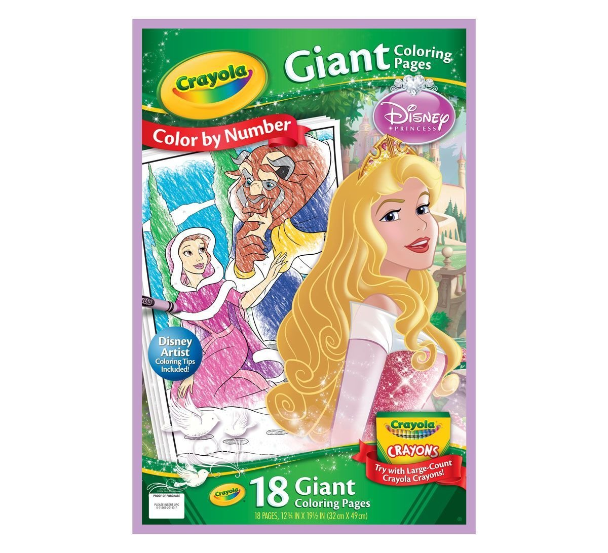 Amazon.com: Crayola Disney Princess Giant Coloring Pages: Toys & Games
