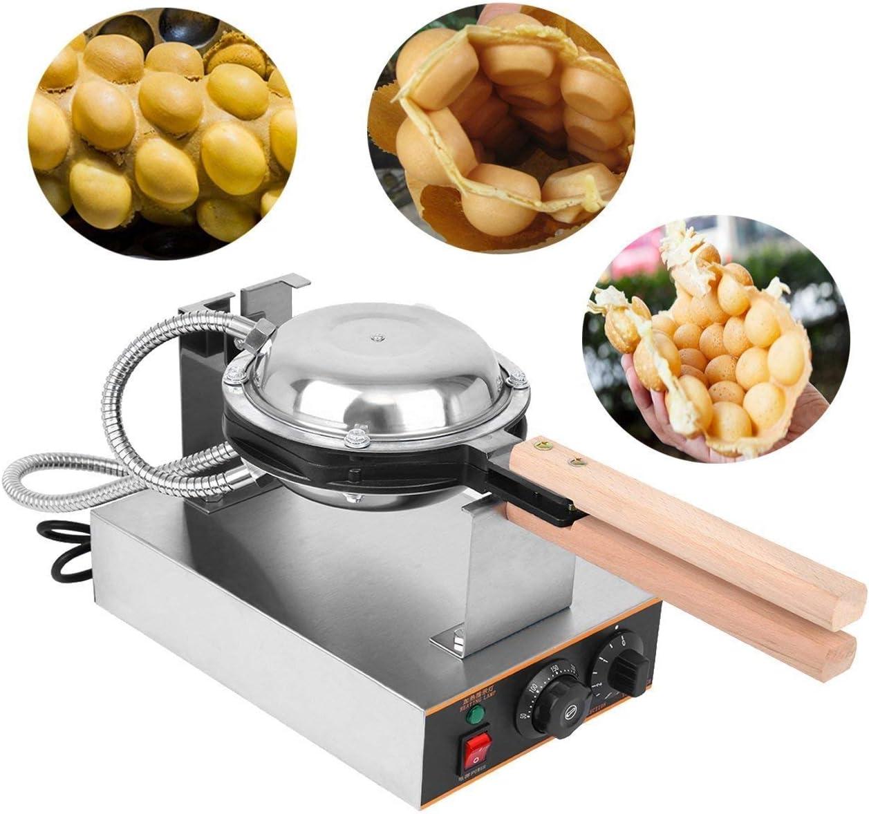 220V Elektrisch Ei Kuchen Waffeleisen Küche Ei-Bubble Backen 1400W Antihaft