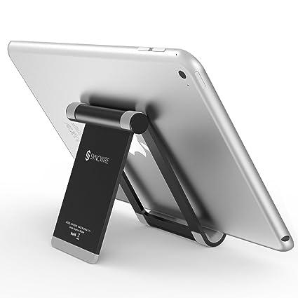 Porta Iphone Da Scrivania.Syncwire Supporto Tablet Porta Ipad Iphone Regolabile 360 Gradi Supporto Da Tavolo Portatile Per Ipad Pro Air Mini Iphone X 8 7 6s 6 Plus Samsung