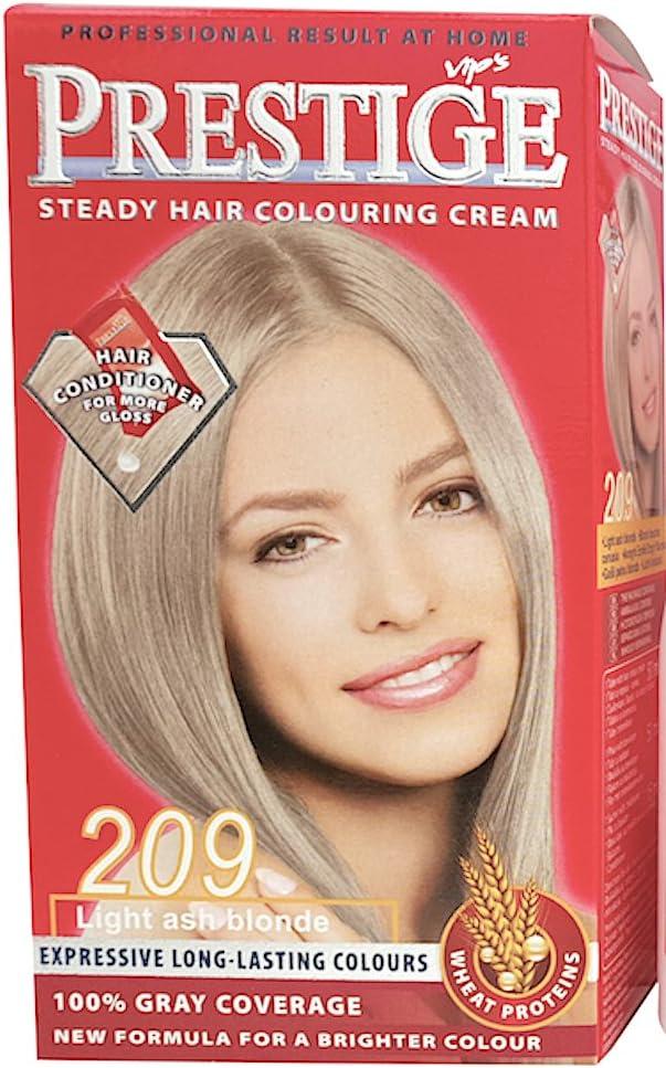 Vips prestige crema colorante para el cabello, color rubio ceniciento claro 209