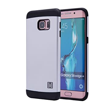 32nd Funda Armadura Rigida Slim Armour con Doble Carcasa para Samsung Galaxy S6 Edge Plus (S6edge+) (SM-G928) - Plata