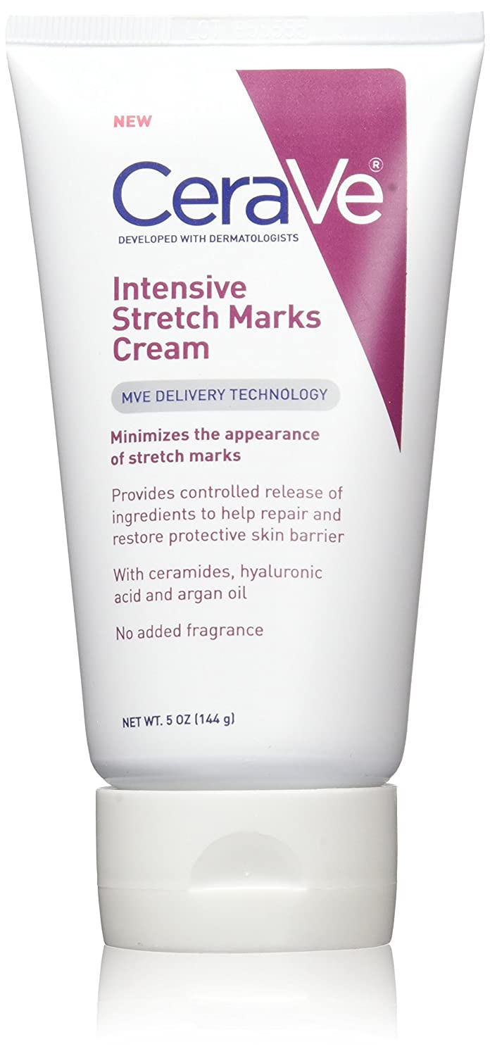 Amazon Com Cerave Intensive Stretch Mark Cream 5 Oz 144 G Beauty