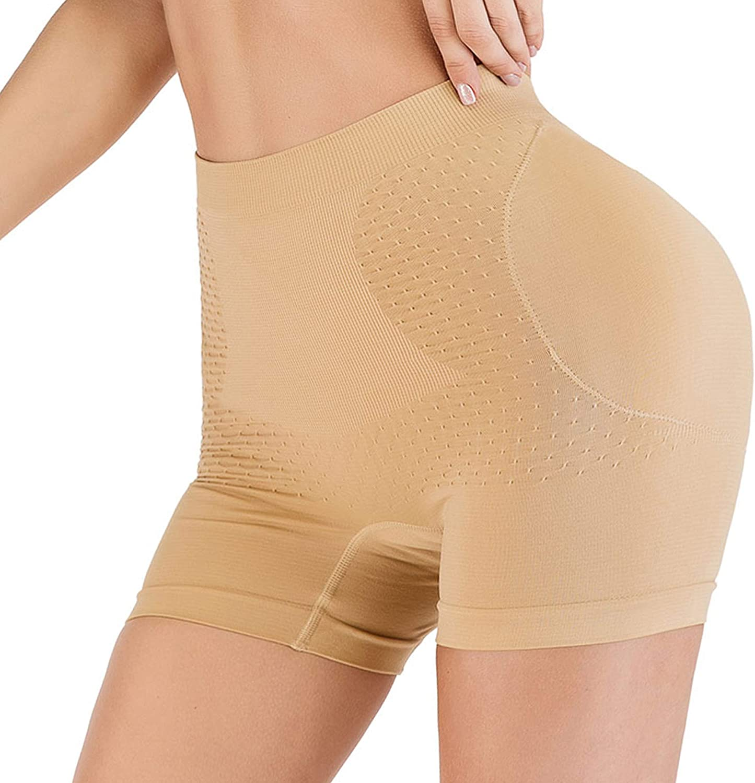 HOMETA Womens Butt Lifter Tummy Control Boy Shorts Body Shaper Hip Enhancer Panties