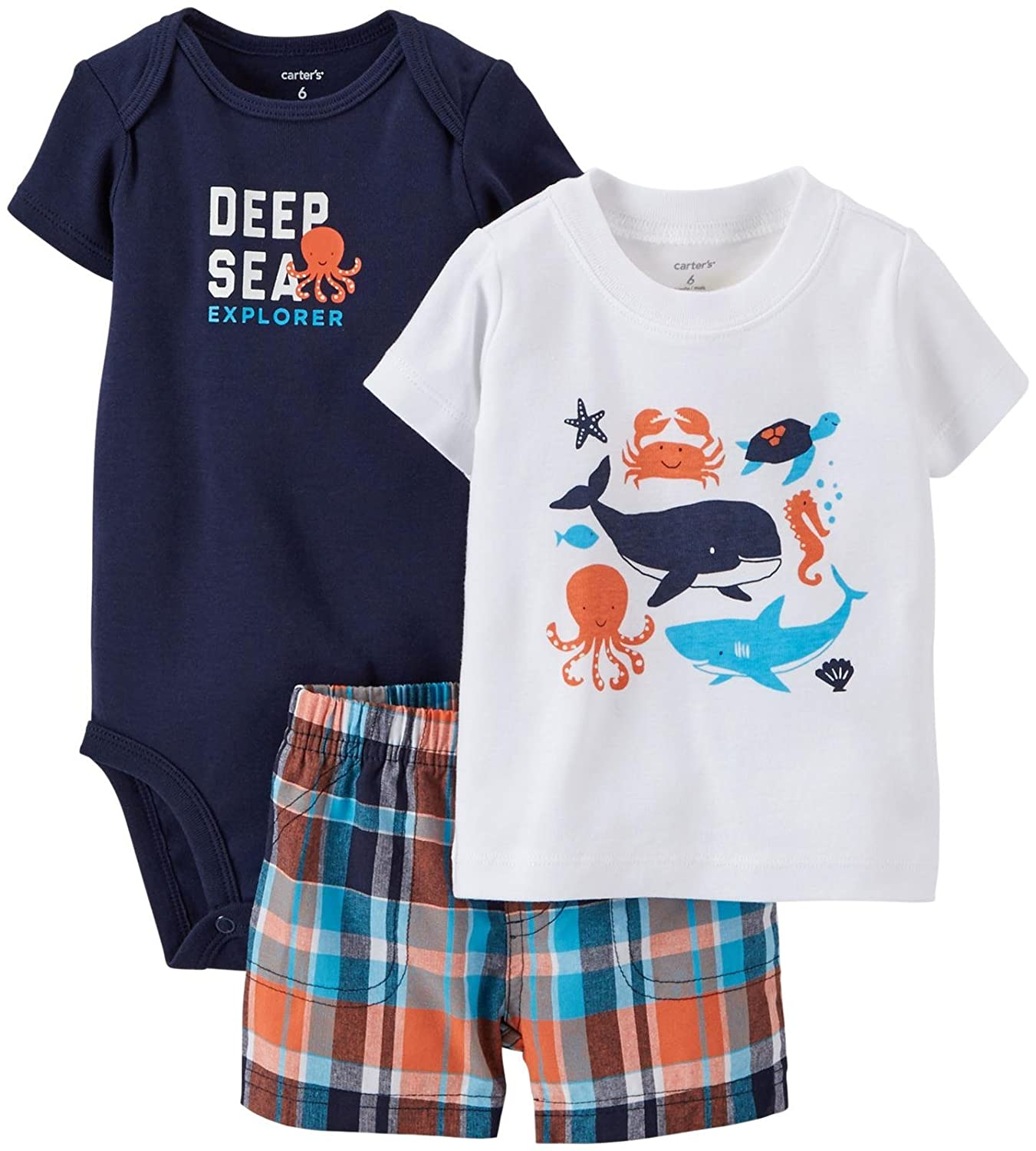 Carters Baby Boys 3-Piece Little Short Sets Carters 121H173