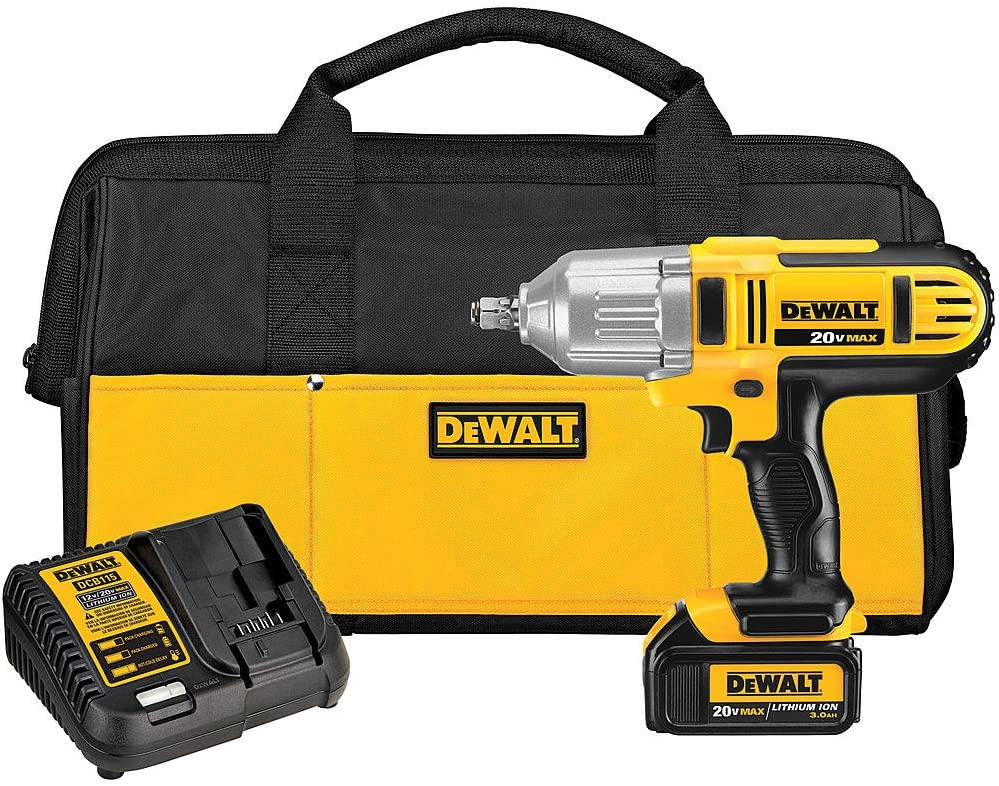 DEWALT 20-Volt Max Lithium-Ion 1 2 in. Cordless Impact Wrench Kit