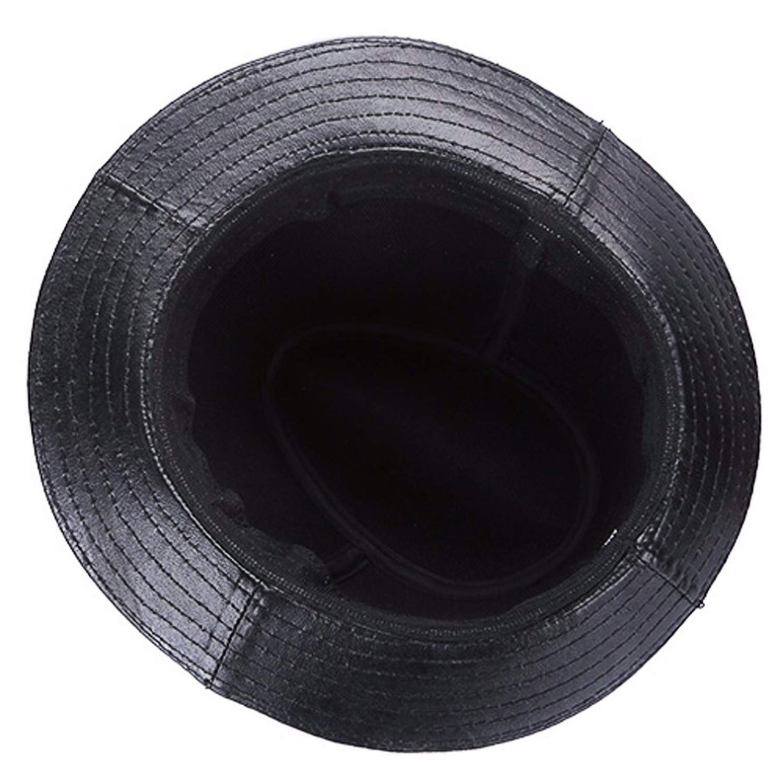 Jeremy Stone Winter Men Fedoras Retro England Style Jazz Cap Warm Leather Fedora Hat Male Formal Hat Curved Brim Cap