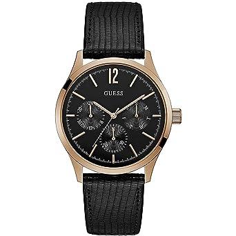 Guess Reloj Analógico para Hombre de Cuarzo con Correa en Cuero W1041G3: Amazon.es: Relojes