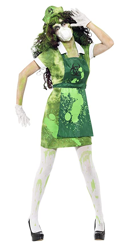 Smiffys Generic - 355 703 - Nuclear Científico Zombie Costume Halloween de la Mujer - Talla S