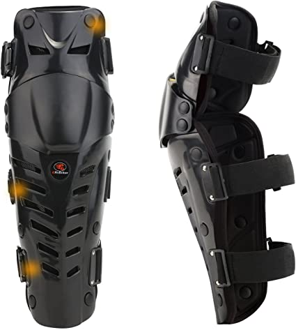 Black Off-Road Motorcycle Motocross Body Protection Armor Knee Guard Shin Pads