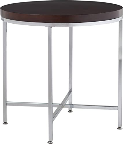 Studio Designs Home Pergola Round Side Table, 26 , Chrome Java