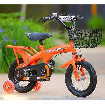 Vélos pour enfants, Orange Optionnel Flash Assist Roue arrière Siège Bouilloire Corps en acier à haute teneur en carbone Robuste et sécuritaire Conçu pour les enfants âgé