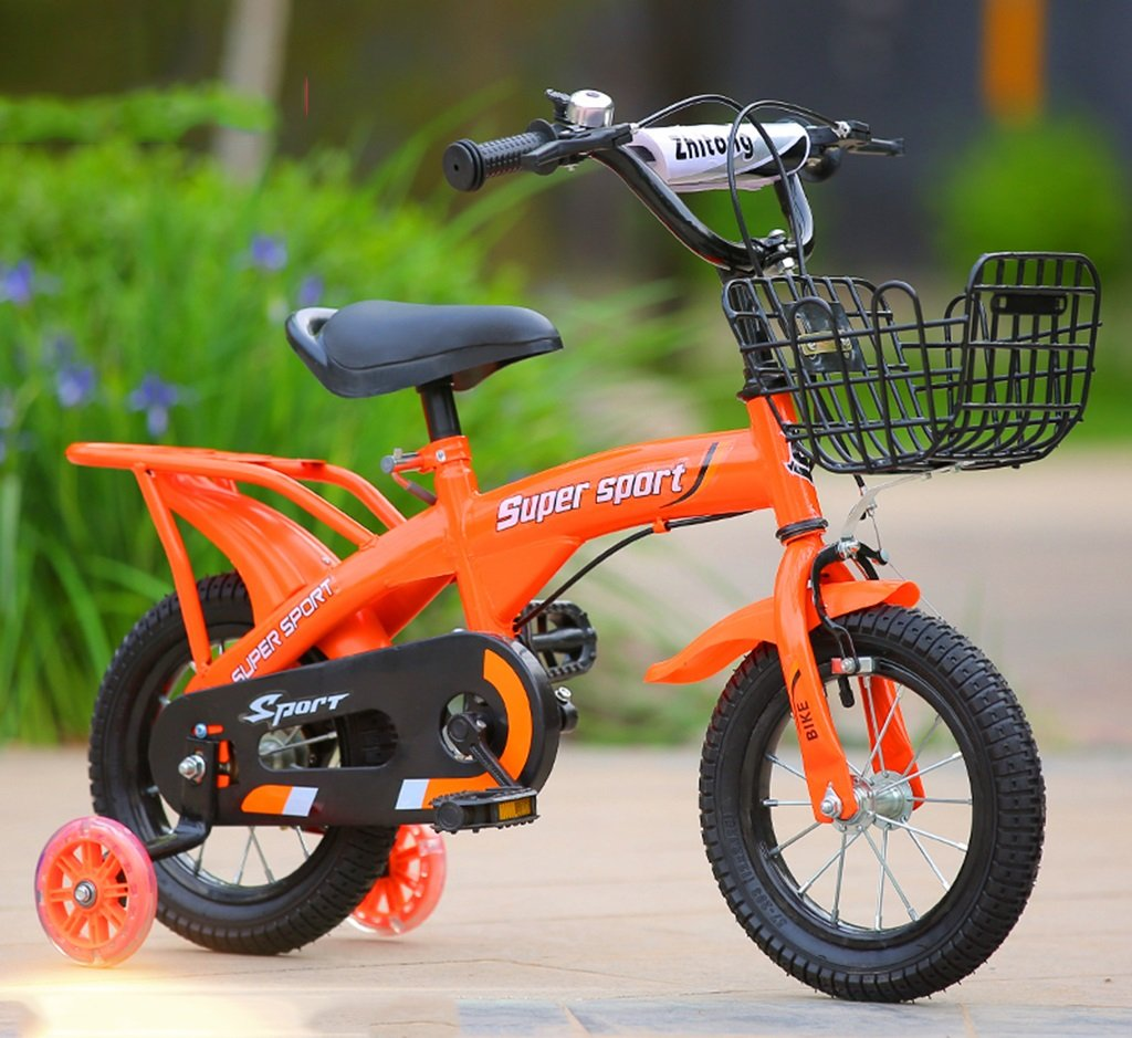 子供用自転車、オレンジオプションのフラッシュアシストホイールリアシートケトル高炭素スチールボディ丈夫で安全な子供用に設計された2-10 88-121CM (色 : D, サイズ さいず : 88CM) B07D5XY1PL 88CM|D D 88CM