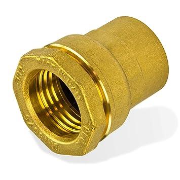 Messing PE Rohr Verschraubung 20 mm x 1//2 Zoll Aussen-Gewinde Klemmverbinder