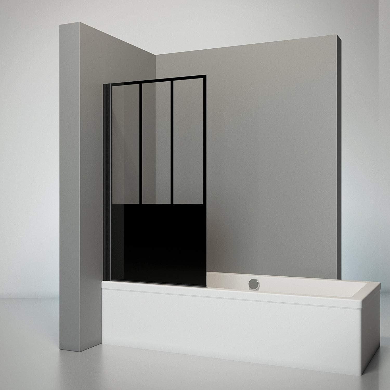 Schulte Pare bañera giratoria, mampara de ducha antical con tapa ...