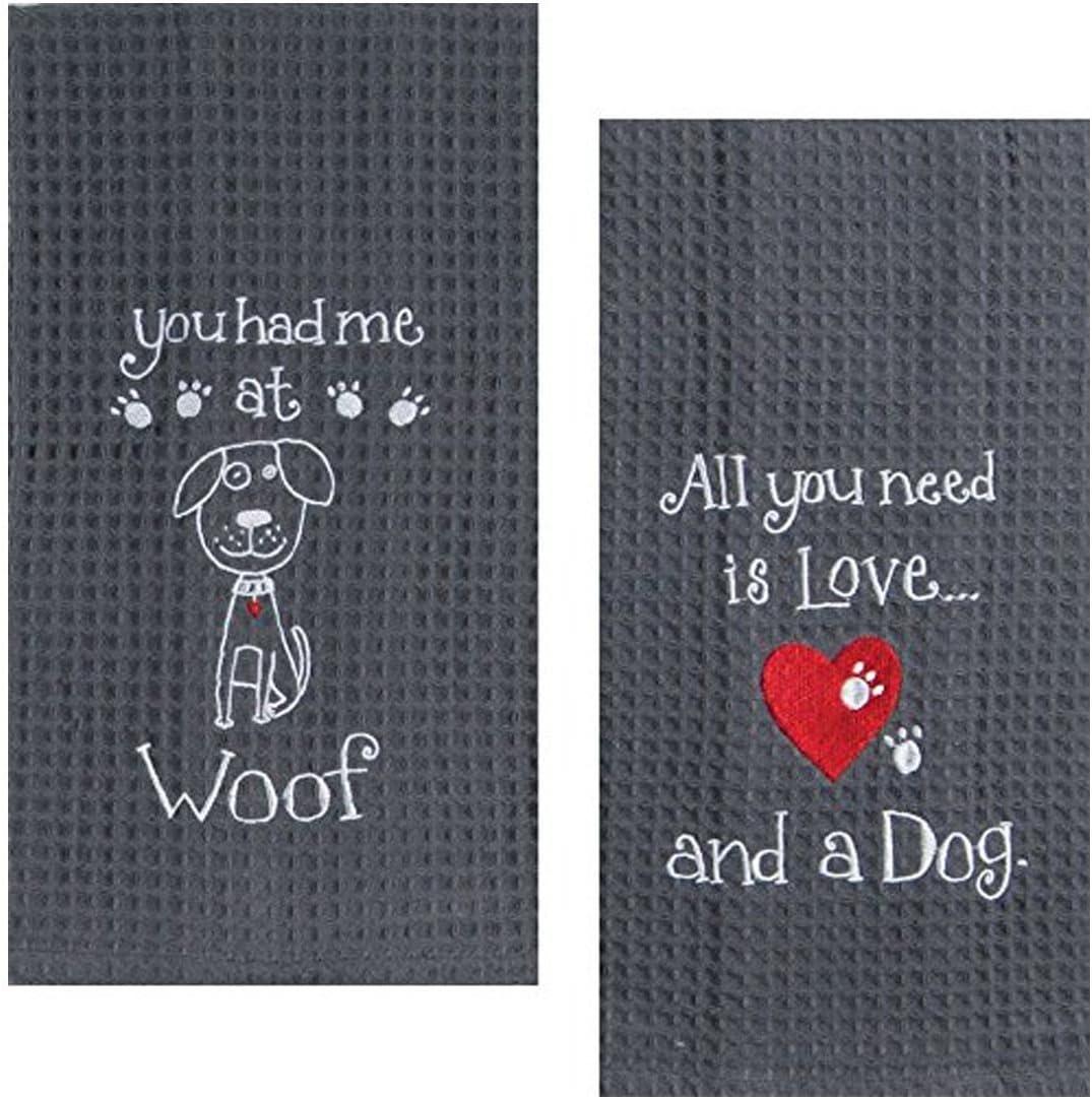 Kay Dee Embroidered Dog Towel Set