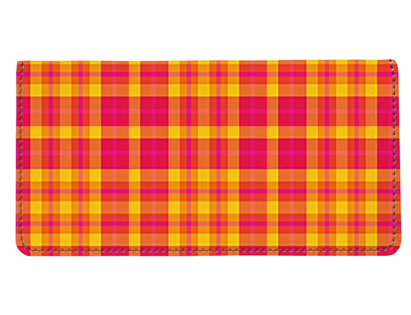Amazon com: Snaptotes Trendy Yellow Pink Orange Plaid Design