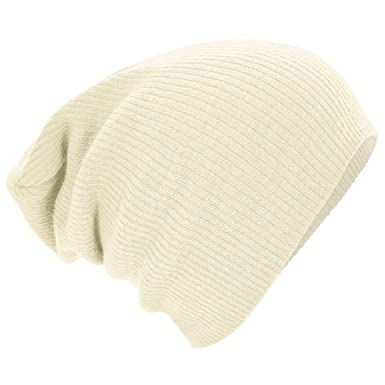 cf917f8dde6 Beechfield Slouch Beanie Off White  Amazon.co.uk  Clothing