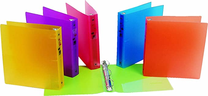 Amazon.com : Filexec 3 Ring Binder, 1.5 Inch Capacity, Frosted, Letter size, Pack of 6, Blueberry, Strawberry, Grape, Lemon, Lime, Tangerine (50160-6493) ...