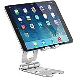 Adjustable Tablet Stand, PHOCAR Desktop Cell Phone Holder Aluminum Portable Folding Mounts with Anti-Slip Base for iPad…