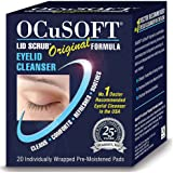 New - Ocusoft Lid Scrub Original Eyelid Cleanser - 20 Individually Wrapped Pre-Moistened Pads.