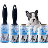 Lint Roller Removal Pet Hair Remover Extra Sticky 5 Packs with Cover Refill for Clothes Furniture and Car Seat